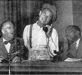 Charlie Cantor, Ed Gardner and Eddie Green